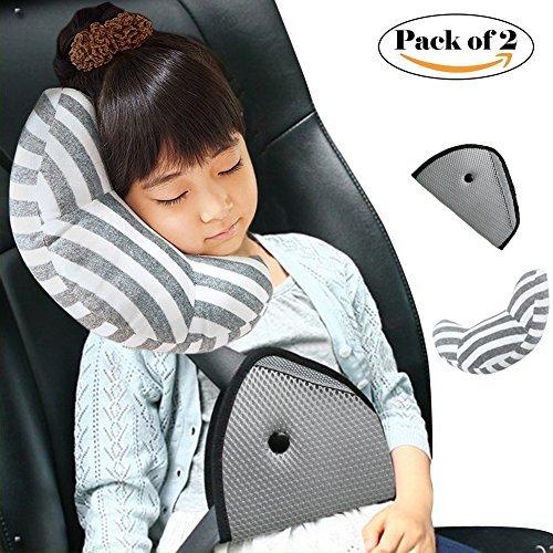 dodymps coche cinturón de seguridad cojín/almohada/Cubierta/protector de hombro almohadilla de hombro, niños Almohadas...