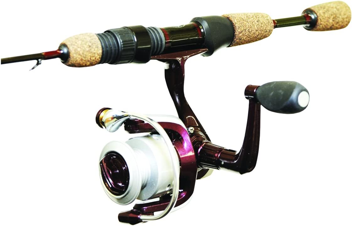 Wright /& McGill Tony Roach Ice Light Spin Fishing Combo 24-Inch Brown