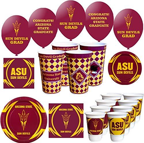 Westrick Arizona State Sun Devils Graduation Party Supplies 94 Pieces (Serves 16)