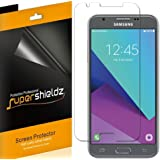 [6-Pack] Supershieldz for Samsung Galaxy J3 Luna Pro Screen Protector, Anti-Bubble High Definition Clear Shield + Lifetime Replacements Warranty- Retail Packaging