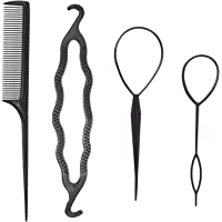 Topsy Tail Hair Tool, NIUTA Fast Hair Styling Accessories for Ponytail Loop Bun Maker