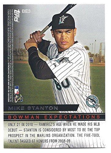 GIANCARLO MIKE STANTON HANLEY RAMIREZ 2010 Bowman Expectations #BE3 Rookie Card RC Miami Marlins Baseball 2010 Bowman Baseball
