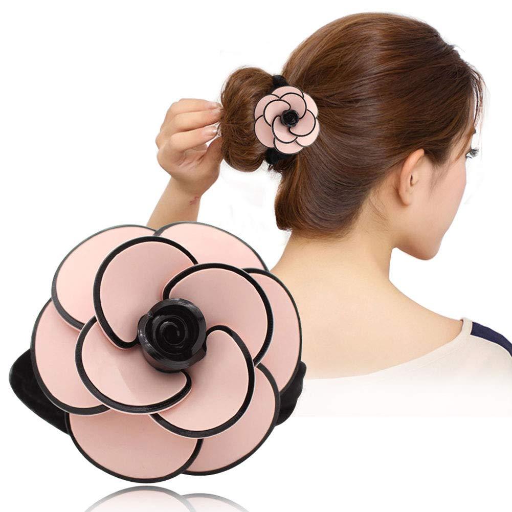 Women/'s Flower Hair Rope Ring Elastic Hair Scrunchies ponytail Holders Party