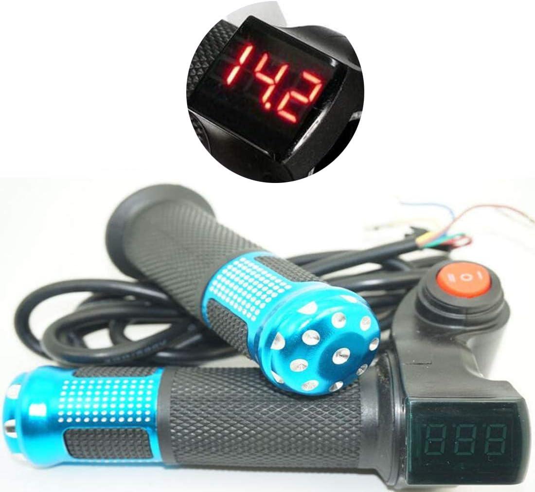 12V-72V Ebike Half Twist Throttle With LED Digital Voltage Display Electric Bike