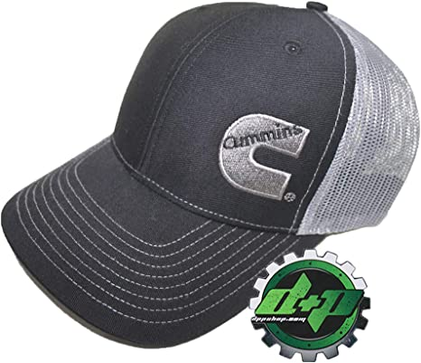 Diesel Power Plus Dodge Cummins Trucker hat Ball Richardson Charcoal Grey Green mesh snap Back