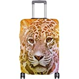ALAZA Colorful American Jaguar Luggage Cover Fits 18-32 Inch Suitcase Spandex Travel Protector