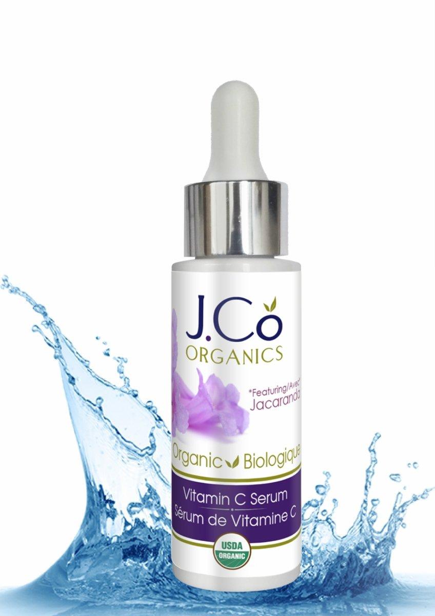Organic 20% Vitamin C Serum by J.Co Organics - Made in Canada, Anti-Aging Serum, Eliminates Dark Spots, Reduces Wrinkles, Tightens and Tones - Cruelty Free, Paraben Free 1fl.oz. Bottle