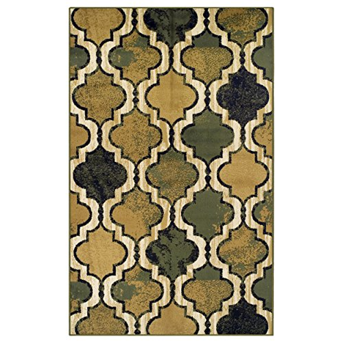 Superior Modern Viking Collection Area Rug - Modern Area Rug, 8 mm Pile, Geometric Trellis Pattern with Jute Backing, Green, 8' x ()