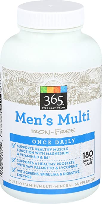 365 Everyday Value, Mens Multi Once Daily, 180 ct