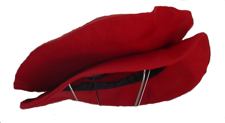 Men's Renaissance Tudor Red Flat Cap - DeluxeAdultCostumes.com