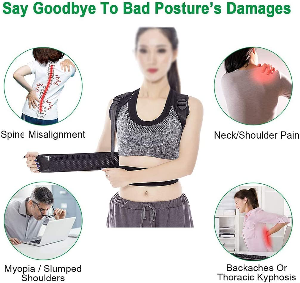 Schl/üsselbein und Schulterst/ütze verbessert die Thorax Kyphose Haltungskorrektur f/ür Damen und Herren verhindert das Verrutschen unter der Kleidung obere R/ücken lindert Schmerzen