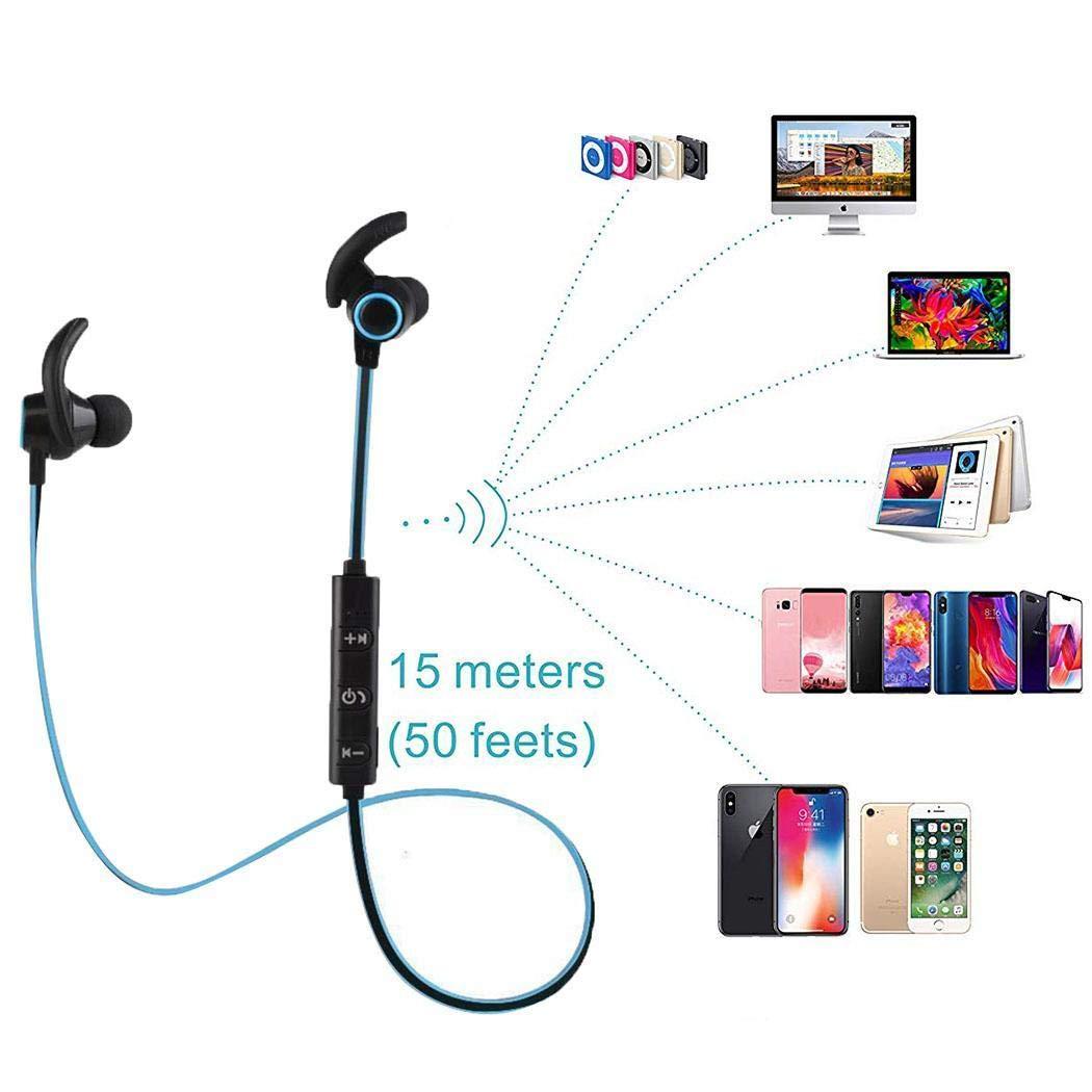 Halffle General Sports Earphone Sweatproof Bluetooth 4.1 Stereo Headset with Mic Headphones