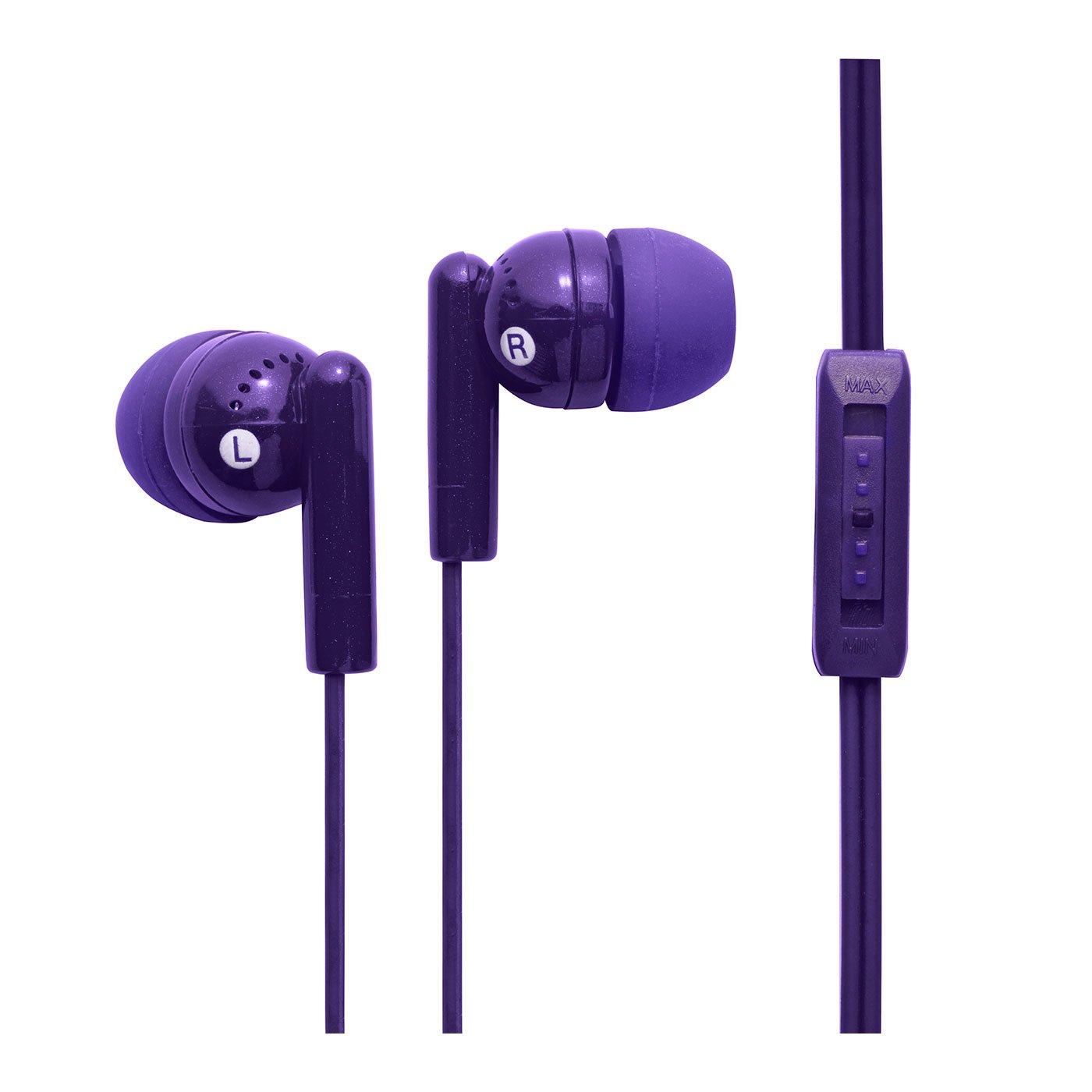 con controllo del Volume viola Groov-e-Auricolari In-Ear colore