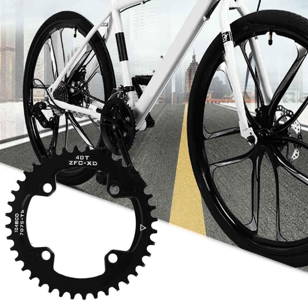 VGEBY1 Plato de Bicicleta 104MM 40T 42T Anillos de Cadena de Bicicleta angosta y Ancha Compatible con Shimano Juego de bielas Ciclismo Plato Rueda Accesorio