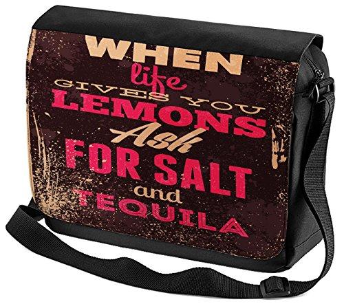 Umhänge Schulter Tasche Fun Tequila bedruckt