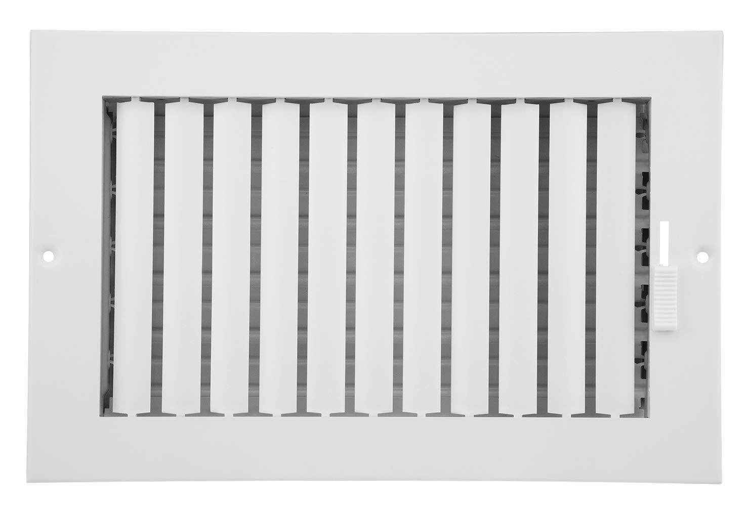 Accord ABSWWHA106 Sidewall/Ceiling Register with 1-Way Adjustable Design, 10-Inch x 6-Inch(Duct Opening Measurements), White