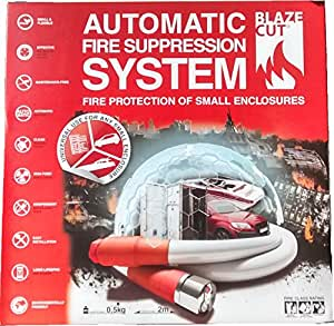 BlazeCut Automatic Fire Suppression System 6' TV200FA, Automotive Extinguisher