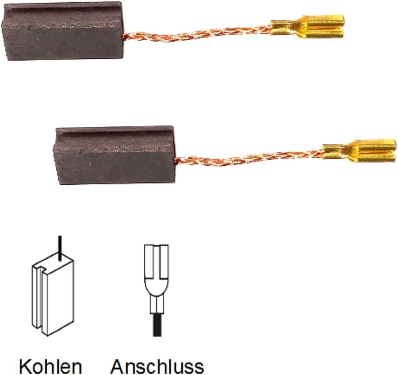 PWS 600 Kohleb/ürsten Motorkohlen Kohlestifte f/ür Bosch PWS 620 AEG GNS 5-100 B 9150 NEU