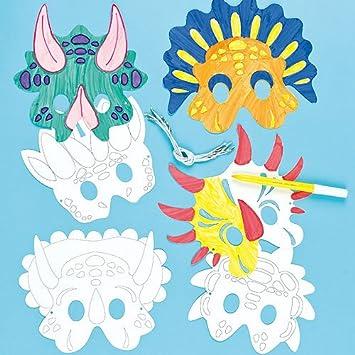 Masken Zum Basteln Und Ausmalen Dinosaurier Fur Kinder Ideal Zum