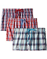 Bottoms Out Women's 3Pk Woven Boxers