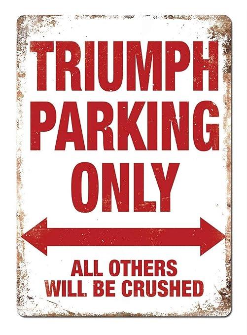Tarfy Triumph Parking Decoración de Pared Retro Vintage ...