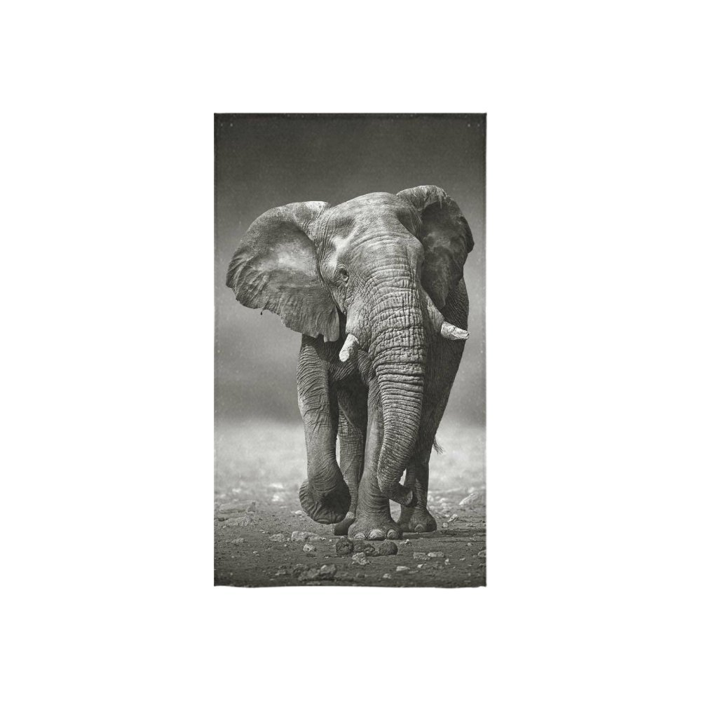 InterestPrint Black and White Elephant African Animal Hand Towel Bath Towels For Home Outdoor Travel Use 16'' x 28'' Inche