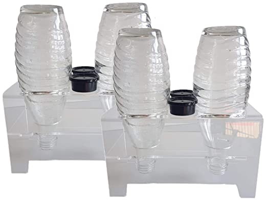 flexiPLEX Juego de 2 bottledry Twin plexiglás ® Escurridor Plana y ...