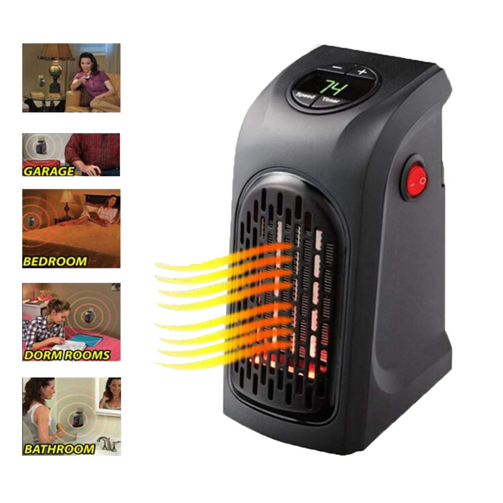 Mini Space Heater,Wall Heater Ft Plug-in Smart Space Heater Portable Handy Heater Indoor Office,Bedroom,Travel
