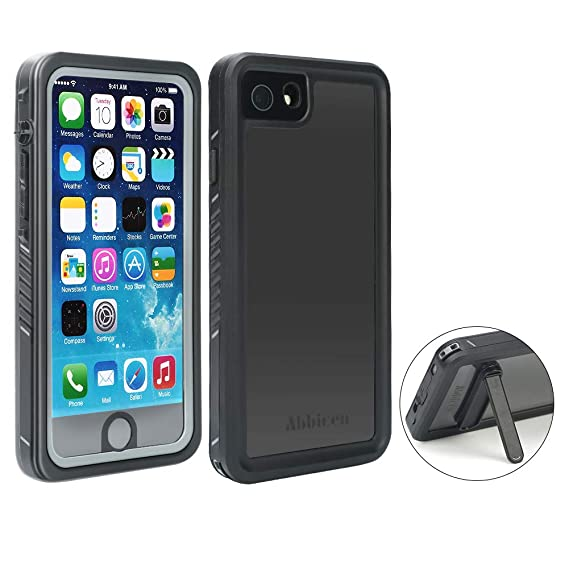 cheap for discount d0c39 9c3d2 Abbicen Waterproof Case for iPhone 7 and 8 Phone Case with Kickstand Full  Body Protective Case Cover with Built-in Screen Protector ...