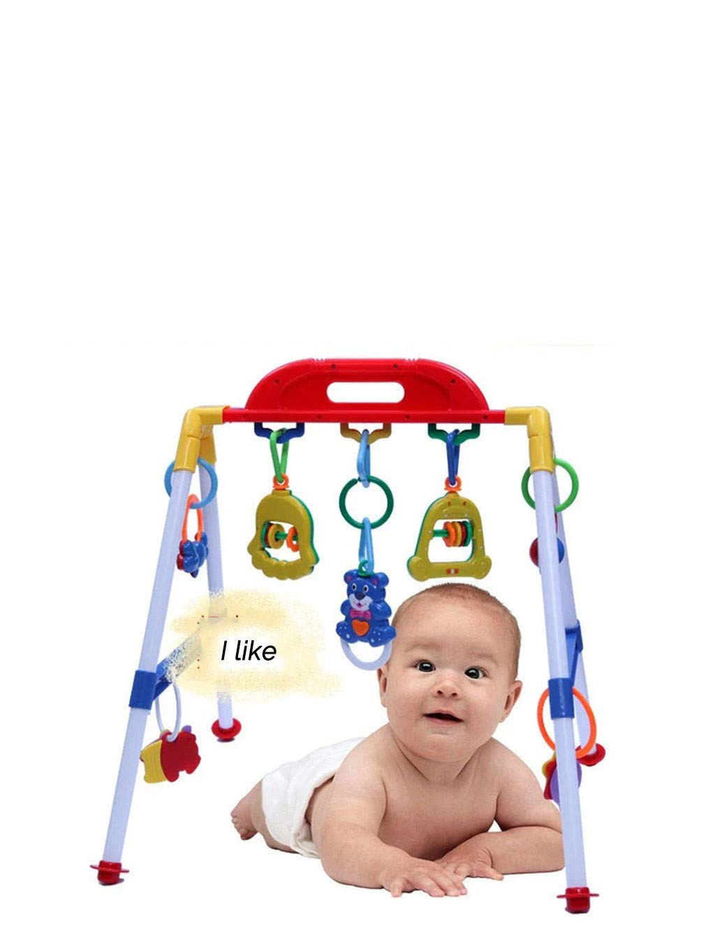 ❤Newdiva❤ Multifunctional Fitness Frame With Educational Gym Toy For Baby - Infant Animal Fitness Frame Game Pad Activity Fitness Blanket Gym Training Early Childhood Boy Girl