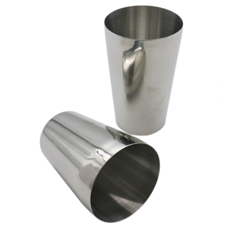 HUELE Set of 2 Stainless Steel Boston Cocktail Shaker Professional Bartender Shaker 20oz & 16oz Silver by HUELE (Image #5)