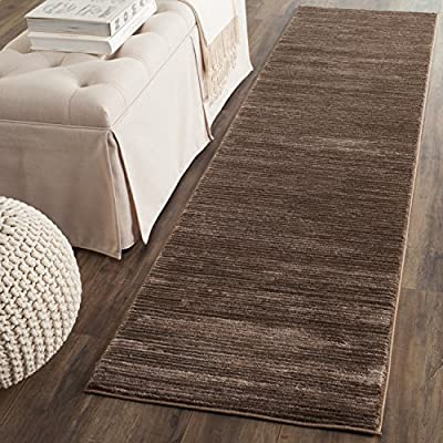 """Safavieh Vision Collection VSN606E Modern Contemporary Ombre Tonal Chic Runner, 2' 2"""" x 6', Brown - Tone-on-tone colors give these rugs a clean contemporary vibe Versatile enough to decorate the bedroom, dining room, living room, foyer, or home office Refined power-loomed construction and enhanced polypropylene fibers ensure an easy-care and virtually non-shedding rug - runner-rugs, entryway-furniture-decor, entryway-laundry-room - 61mpZE7vNEL. SS400  -"""