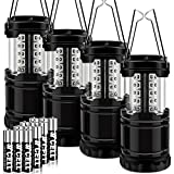 LOVIN PRODUCT Camping Lantern, Portable LED Camping Lantern Flashlights; Super Bright, Battery Powered, Collapsible Lightweight Camping Lights for Hiking, Emergency, Hurricane, Power Outage (4 Pack) For Sale