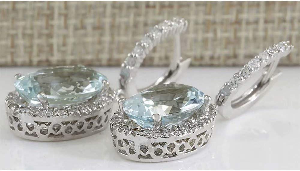 Aquamarine Gemstone and Czech Glass Beaded Hypoallergenic Hoop Earrings boho style beach wedding brides hoop earrings jewellery LILJA