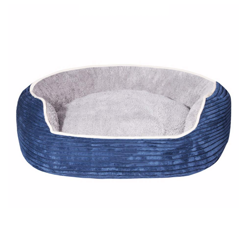 bluee S bluee S Kennel Warm Washable Pet Nest Kennel Small Medium Kennel Pet Bed Cat Litter Cat House Washable Four Seasons Available (color   bluee, Size   S)