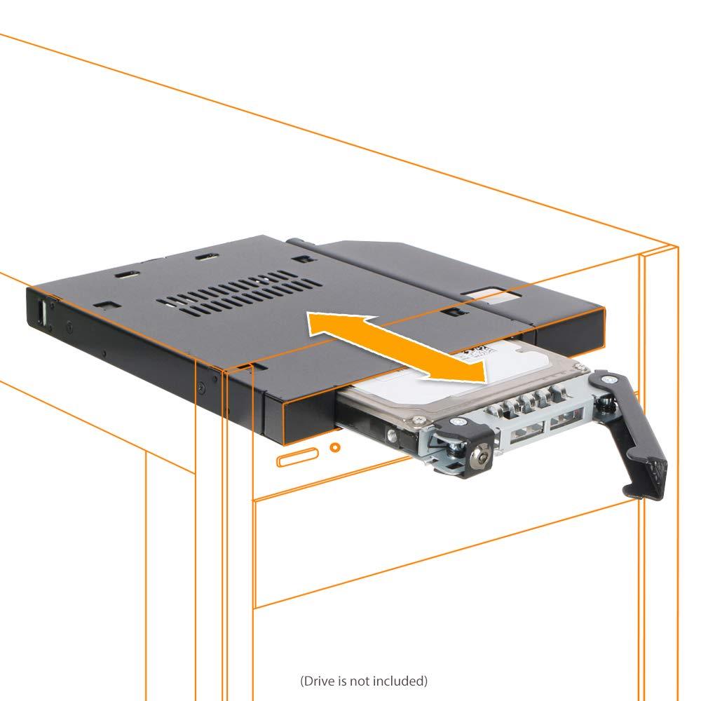 """Icy Dock ToughArmor MB411SKO-B - Rack extraíble 2.5"""" SATA/SAS HDD ..."""