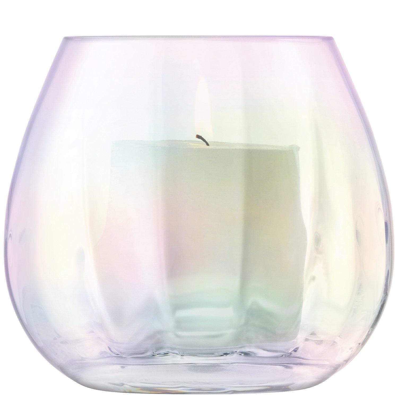 LSA International Lanterne/Vase H, Nacre, 14.5x 14.5x 12.8cm G1449-13-916
