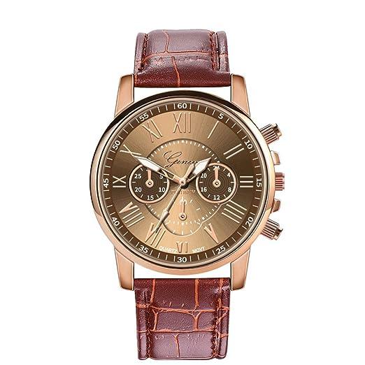 BBestseller Relojes de Pulsera de Pulsera de Acero Inoxidable de Cuarzo para Mujer Aleación Retro Impermeable Wristwatch (Rojo): Amazon.es: Relojes