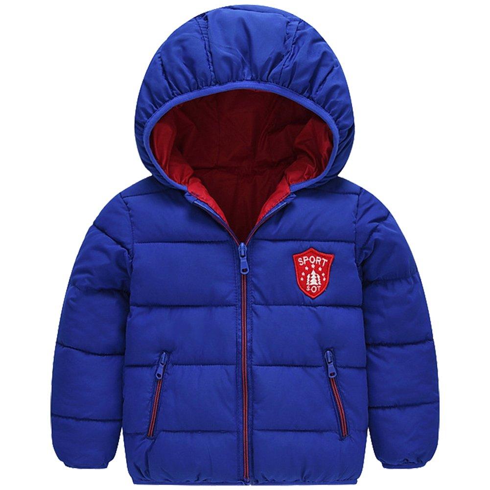 LSHEL Winter Baby Jungen Mädchen Daunenjacke Gepolsterte Oberbekleidung Daunenjacke mit Kapuze
