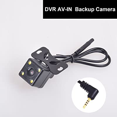 12-24V Auto Rear View Backup Camera 2.5mm AV-in for Car DVR Camcorder Black Box Recorder Dash Cam Dual Recording Aux Stereo GPS Tablet Video Input: Car Electronics