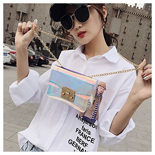 Purse Shoulder Bag Body Clear Mini LEBIYOU Hologram for Handbag Girls Women Cross xKfZA7FqX