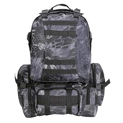 c3490ab8f95c Amazon.com : KRQ 55L Military Molle Camping Backpack Tactical Hike ...