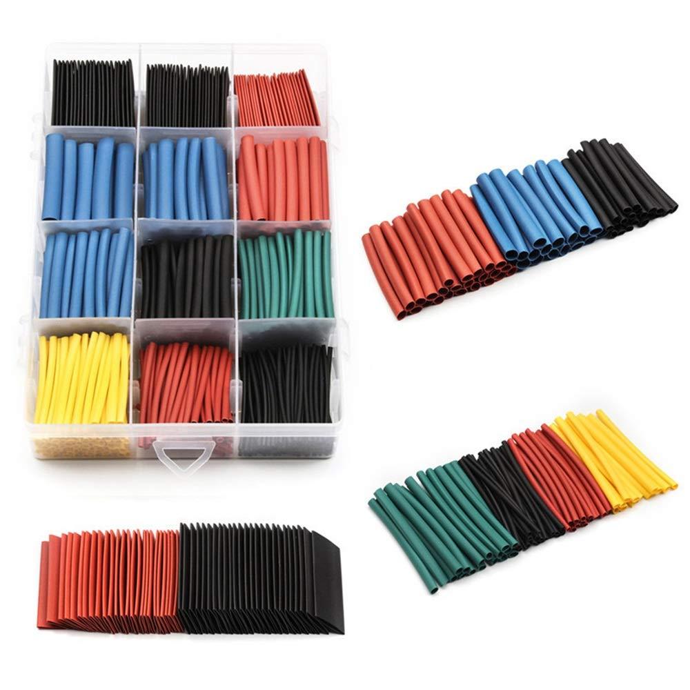 560 piezas 2: 1 tubo termorretrá ctil 6 colores 11 tamañ os Conjunto de tubos Combo juego surtido de envoltura para cable Kit de alambre para bricolaje Yamyannie