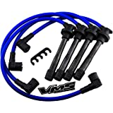 VMS RACING 97-08 10.2mm High Performance Engine SPARK PLUG WIRES Wire Set in BLUE Compatible with Hyundai Tiburon 1.8L 2.0L DOHC G4GF I4 FX 1997-2000
