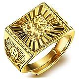Men's Gold Ring Luxurious Shiny DO NOT FADE