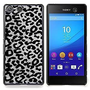 Stuss Case / Funda Carcasa protectora - Blanco negro Escala de grises Animal - Sony Xperia M5