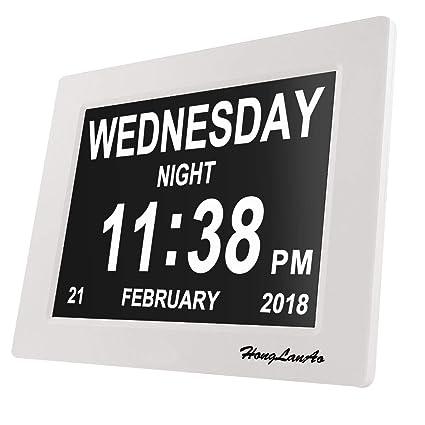 "Reloj Calendario Actualización | Con Función de Alarma Honglanao 8"" Digital Calendario Día Reloj No"