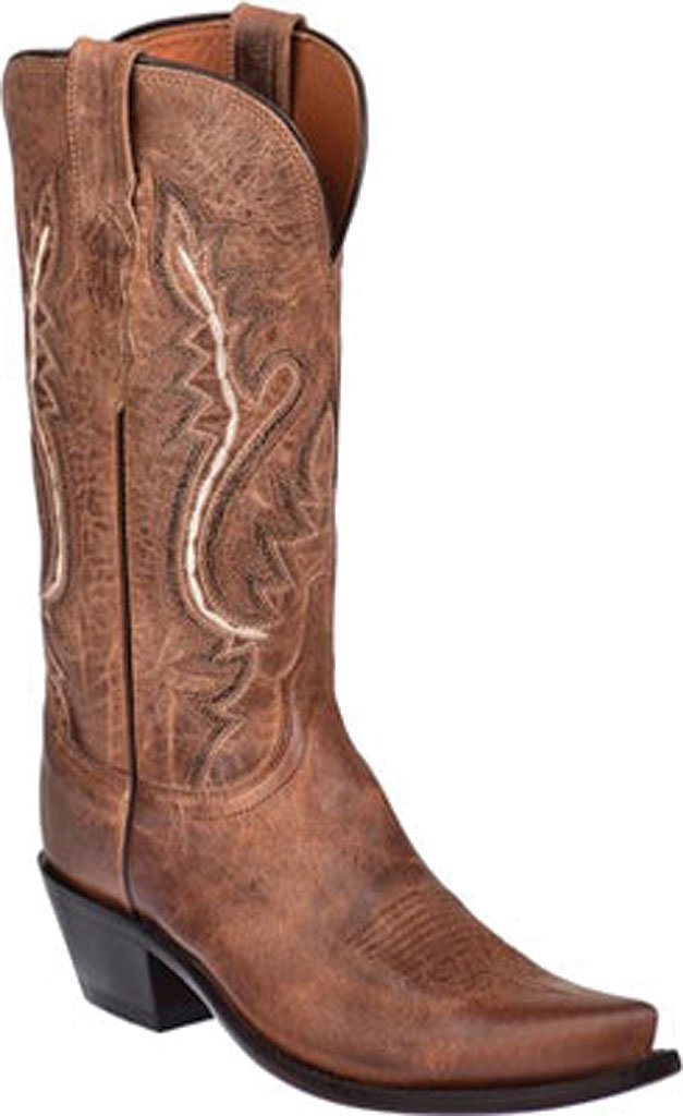 Lucchese Bootmaker Women's Cassidy-Tan Mad Dog Goat Riding Boot B00CU70LKU 8 C/D US|Tan Mad Dog Goat