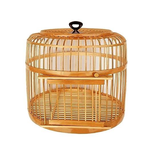 LQW HOME Jaulas para pájaros Jaula de pájaros de bambú Nido de ...