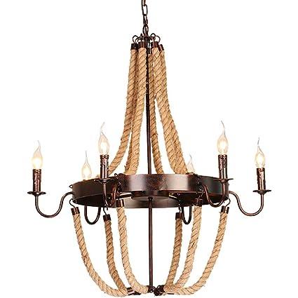 XAJGW Lámparas Colgantes rústicas de la iluminación de la ...